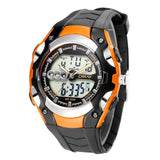 Mens 30m Waterproof Silicone Band LED Watch - Orange