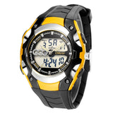 Mens 30m Waterproof Silicone Band LED Watch - Yellow