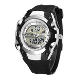 Mens 30m Waterproof Silicone Band LED Watch - White