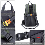 Unisex 40L Water-Resistant Outdoors Backpack - Clips, Straps