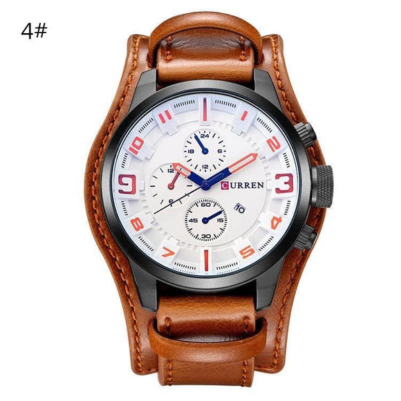 Luminous Men's Leather Wrist Watch - Color #4