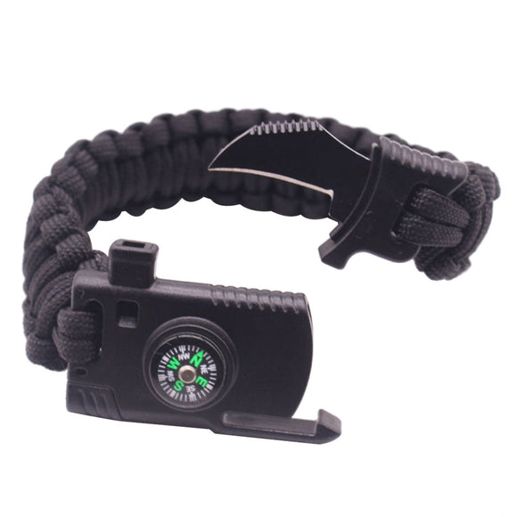 Survival Multifunction Tactical Bracelet - Black