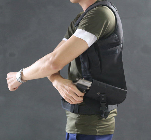 Left Underarm Shoulder Tactical Pouch with Holster from Focus Tactical