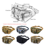 Multi-Compartment Waist / Shoulder Pack - Dimensions