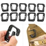 10-Pack Multipurpose D-Ring Locking Hook from Focus Tactical