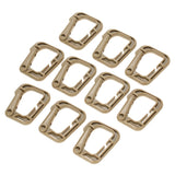 10-Pack Multipurpose D-Ring Locking Hook - Tan