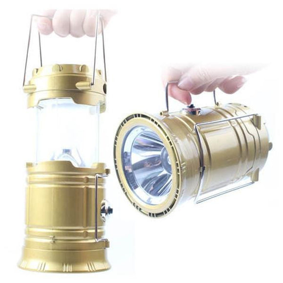 Solar LED Lantern With Charging Power Bank - Lantern/Flashlight