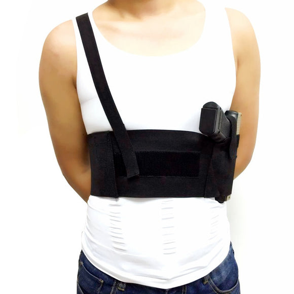 Universal Abdominal Band Pistol Holster with Single Shoulder Strap from Focus Tactical