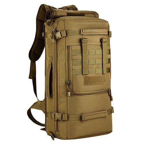 Focus Tactical 3-Way 50L MOLLE Waterproof Bag - Brown