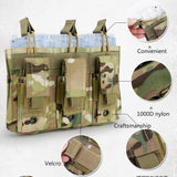 Tactical MOLLE Triple Open-Top Magazine Pouch - Features