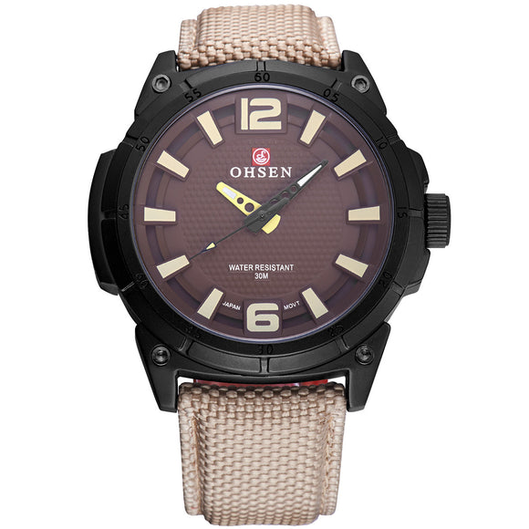 Focus Tactical 30m Water Resistant Watch - Khaki