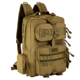 Small Tactical Molle Waterproof Rucksack from Focus Tactical - Brown