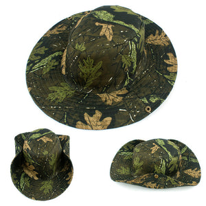 Wide Brim Unisex Camo Bucket Hat from Focus Tactical
