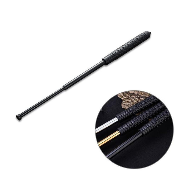 26-Inch Telescopic Self-Defense Stick with Rubber Handle from Focus Tactical