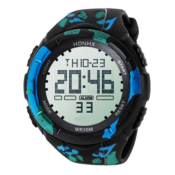 Mens Digital Sport LED Wristwatch - D