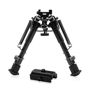 "Focus Tactical Adjustable 6"" to 9"" Foldable Spring Return Bipod"