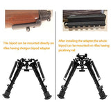 "Focus Tactical Adjustable 6"" to 9"" Foldable Spring Return Bipod - Mounting"