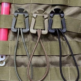 10-Piece Molle Webbing Elastic Cord Clips from Focus Tactical