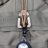 10-Piece Molle Webbing Elastic Cord Clips - In Use