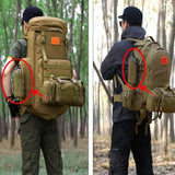 Focus Tactical Water Bottle Molle Pouch - Attached to Pack