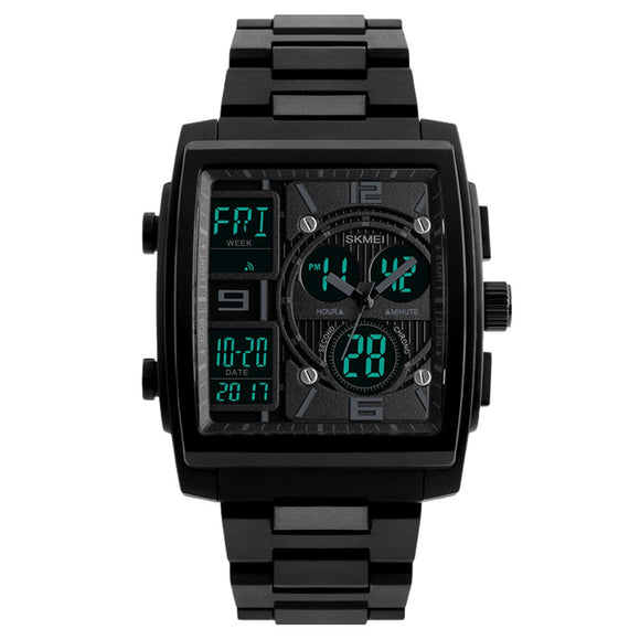 Men's Large Square Dual Display Wristwatch from Focus Tactical