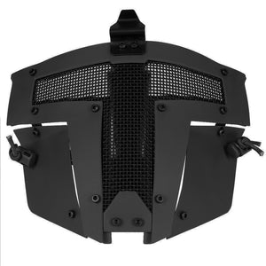 Combat Style Protective Mesh Face Mask from Focus Tactical - Black