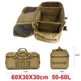 Focus Tactical 60L Molle Travel Duffle Backpack - Dimensions