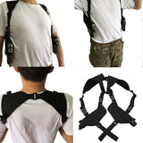 Tactical Shoulder Double Holster from Focus Tactical - On Body