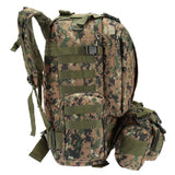 Military MOLLE Backpack with Detachable Pouches from Focus Tactical - Side View