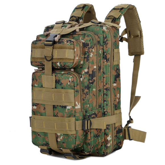 Multifunction Molle Bug Out Bag (30L or 40L) from Focus Tactical - 30L Camo 1