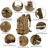 Multifunction Molle Bug Out Bag (30L or 40L) from Focus Tactical - Features