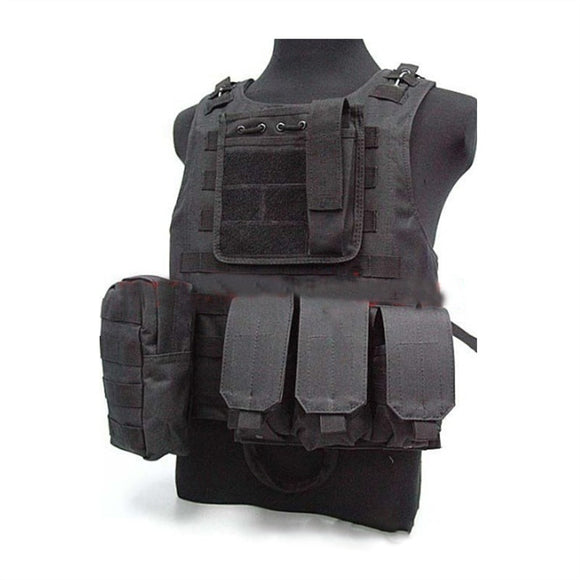 Amphibious Molle Utility Vest (Black) - Fit On Body