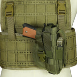 Quick Pull MOLLE Suit Holster - In Use