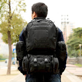 Military MOLLE Backpack with Detachable Pouches from Focus Tactical - On Body