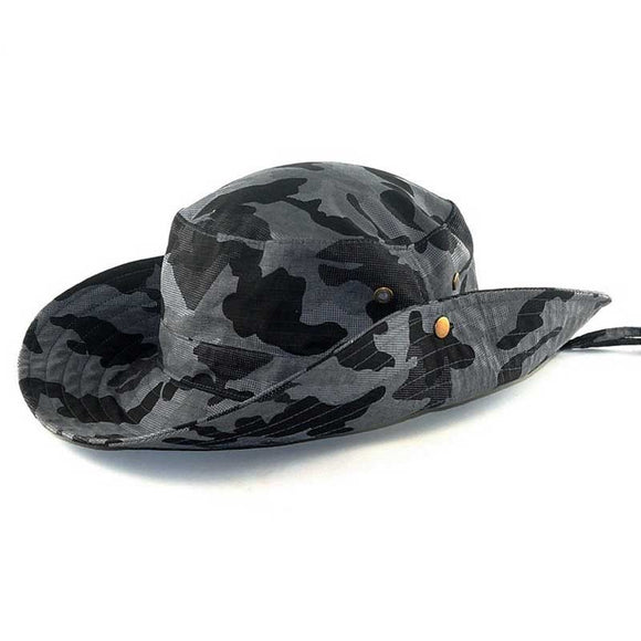 Focus Tactical Camouflage Tactical Bucket Hat - Grey