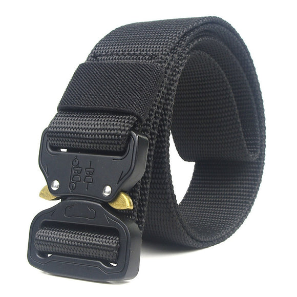 Adjustable Quick Release Web Belt from Focus Tactical - Black