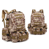 4-in-1 Tactical Backpack with MOLLE Webbing - 4