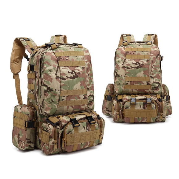 4-in-1 Tactical Backpack with MOLLE Webbing - 6