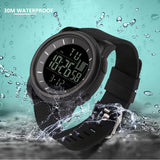 Luxury Mens Sport LED 30M Waterproof Watch - Waterproof