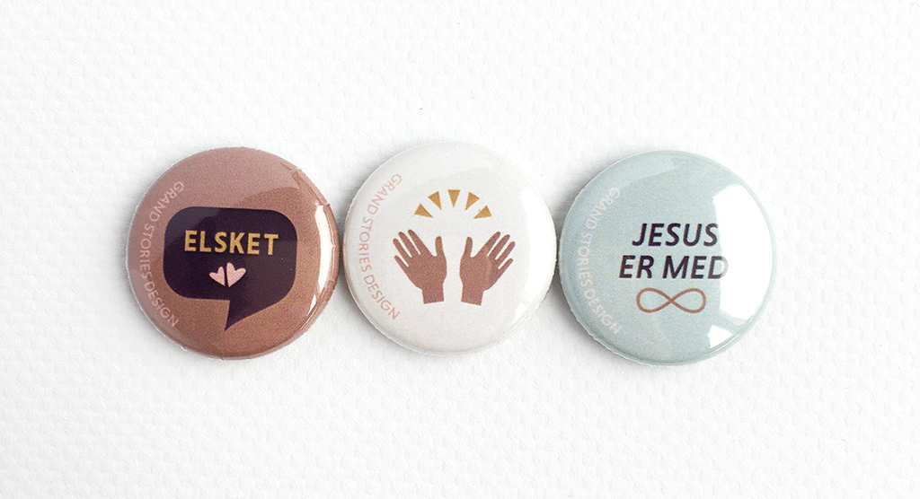 Badges fra Grand Stories Designs Faith collection
