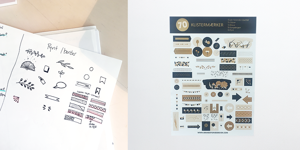 Planner sticker process