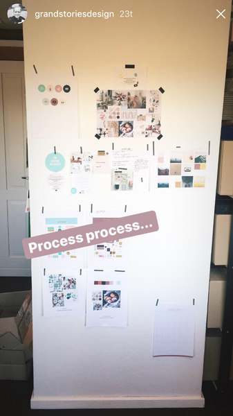 Grand Stories Design process photo