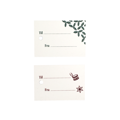 Gift tags - red & green