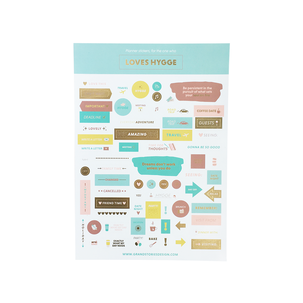 Calendar Stickers - For the one who loves Hygge