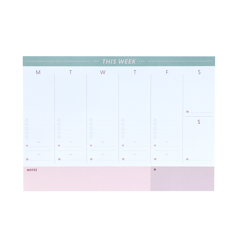 Weekly Planner - Large - A4