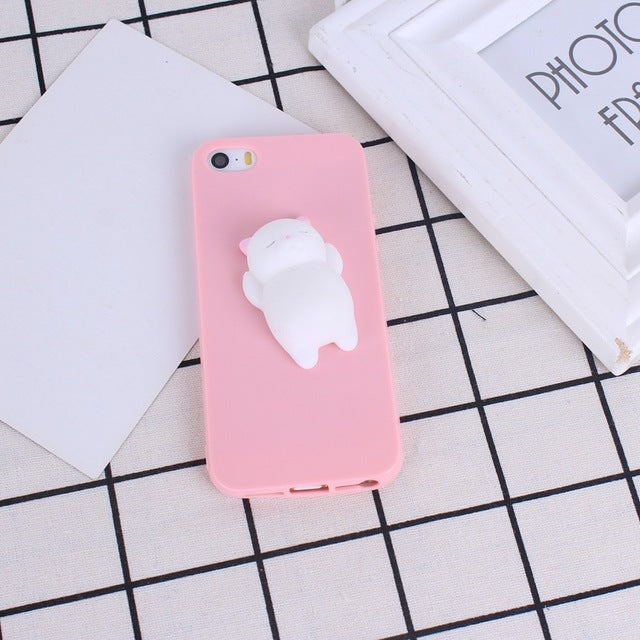 5631f48a9a Squishy 3D Phone Case For Iphone 7 Cases Cute Soft Silicone Panda Cartoon  Cover For Iphone