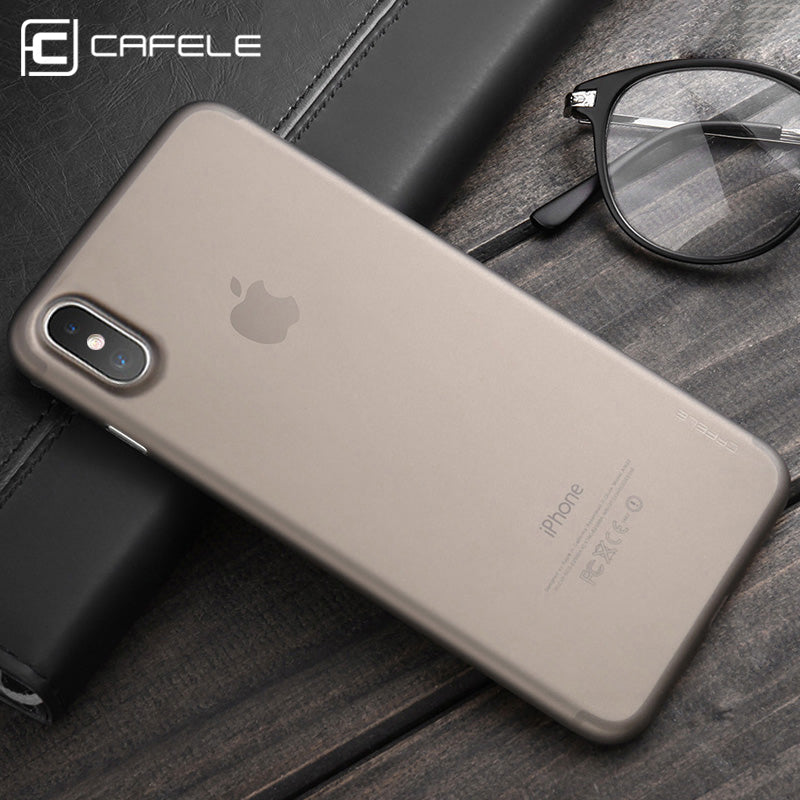 best website 86d5f ef3bf CAFELE Ultra Thin Matte PP Case for iPhone X Slim Protective Case