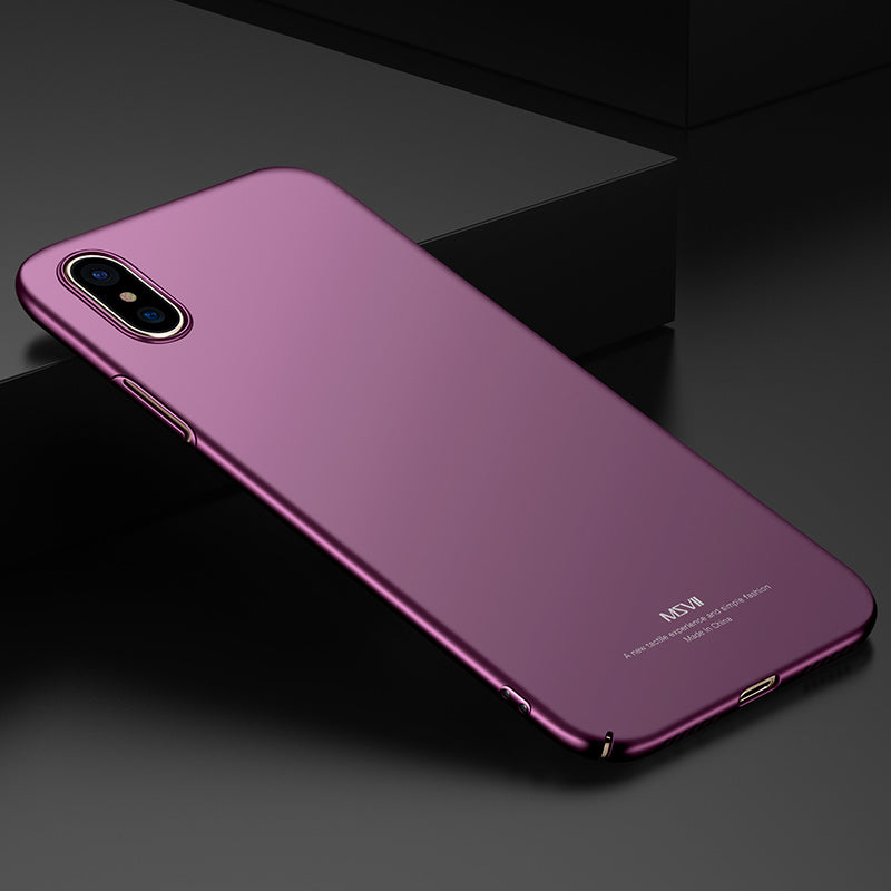 best service e773a 0f493 For iPhone X Case For iPhone X Cover MSVII Ultra Thin Smooth & Matte Hard  Back Cover Phone Cases For Apple iPhone X iPhoneX 5.8