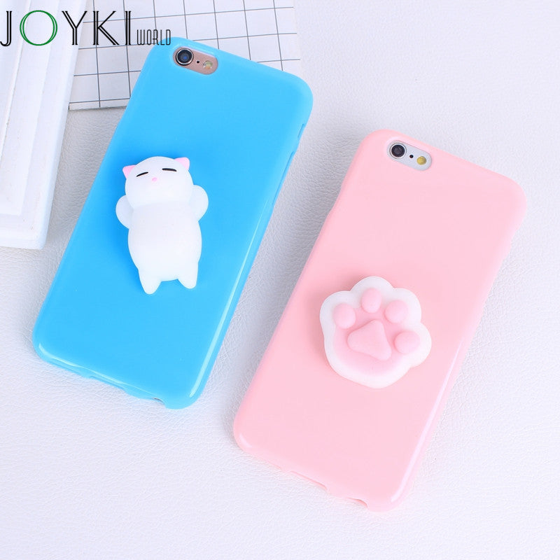 new product baf47 48ab6 Squishy 3D Phone Case For Iphone 7 Cases Cute Soft Silicone Panda Cartoon  Cover For Iphone 7 7 Plus 6 6S 5 5S SE Case Funda Capa