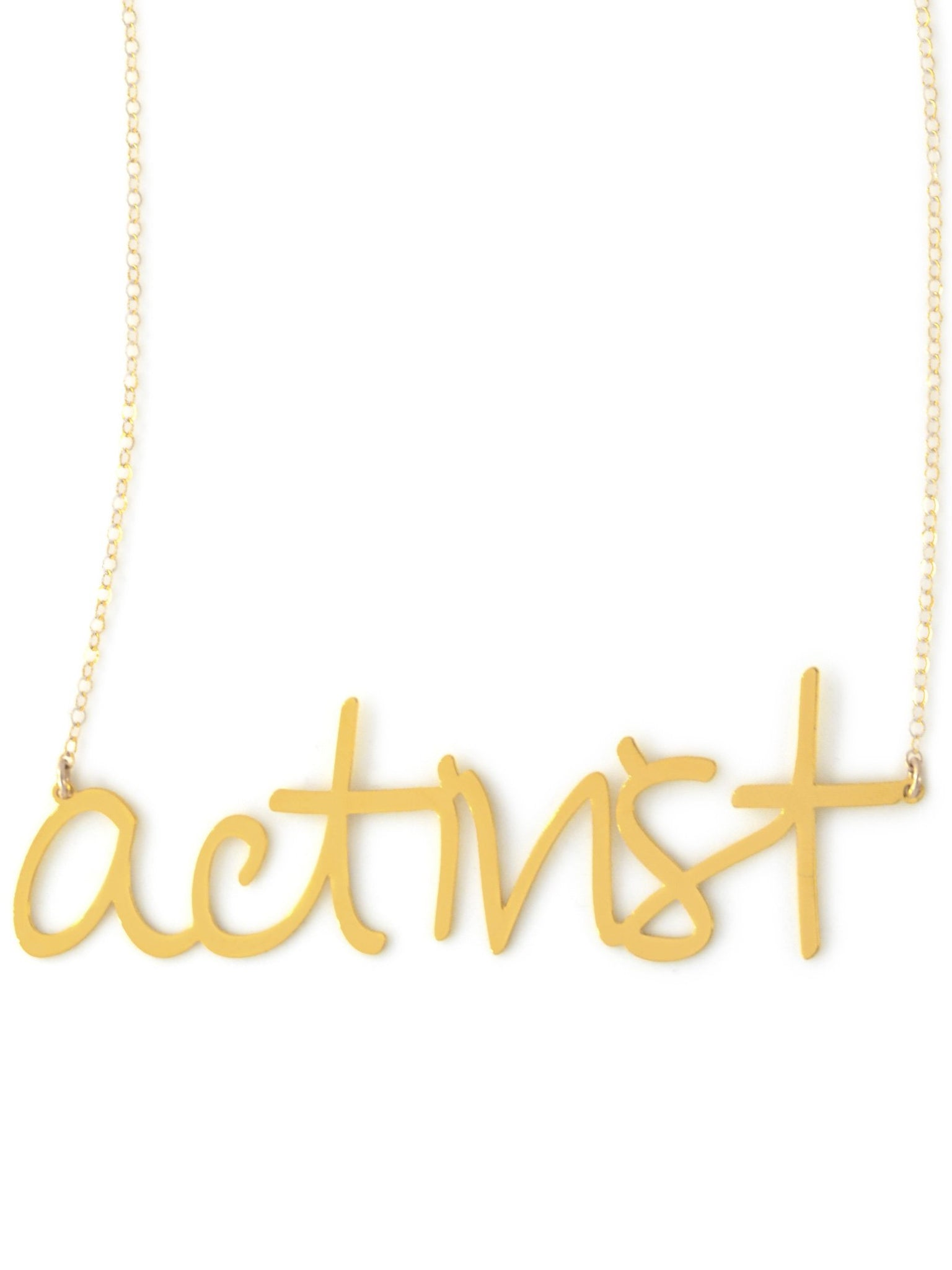 Activist - XX {{ product.type }} - Brevity Jewelry - Made in USA - Affordable gold and silver necklaces